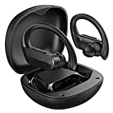Bluetooth Earbuds, Flame Solo Bluetooth Headphones Bass+ Stereo Sound, Wireless Earbuds/Fast Charging/USB-C/28H Playtime/IPX7 Waterproof with Earhook, Wireless Earphones with Microphone for Sport