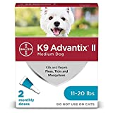 K9 Advantix II Flea and Tick Prevention for Medium Dogs 2-Pack, 11-20 Pounds