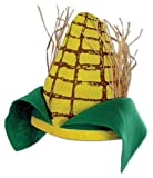 Beistle Novelty Plush Fabric Fall Theme Corn Cob Hat Farm Party Supplies Halloween Costume Accessory, One Size, Yellow/Green/Brown