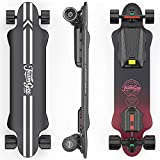 Teamgee H20 39' Electric Skateboard with Remote, 1200W Dual Motor, 30KM Range, 26PMH Top Speed, 4 Speed Adjustment Longboards Skateboard Designed for Teens and Adults (7500mAh)