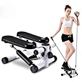 LIANG Fitness Stair Stepper for Women and Man,Mini Stepper Fitness Cardio Exercise Trainer,Height Adjustable StepperTwisting Machine,Stepper Exercises Equipment with Monitor and Resistance Bands