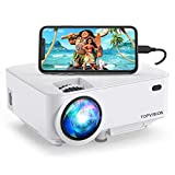 Mini Projector, TOPVISION 5500L Outdoor Movie Projector, Full HD 1080P Supported Portable Video Projector, Compatible with Fire Stick,HDMI,VGA,USB,AV,Laptop,PS4