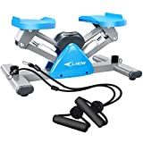 L NOW Mini Stair Stepper for Exercise Equipment Stair Stepper Machine with Resistance Bands and LCD Monitor,Mini Stepper for Indoor Workout
