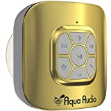 Gideon Portable Waterproof Bluetooth Speaker with Suction Cup - 10 Hours Playtime/Built-in Mic (Gold)