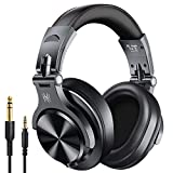 OneOdio A70 Bluetooth Over Ear Headphones, Studio Headphones with Shareport, Foldable, Wired and Wireless Professional Monitor Recording Headphones for Guitar Amp Online PC Tablet Home Office Online