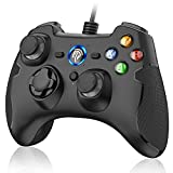 EasySMX Wired Gaming Controller,PC Game Controller Joystick with Dual-Vibration Turbo and Trigger Buttons for Windows/Android/ PS3/ TV Box(Black)
