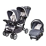 Baby Trend Sit N Stand Lightweight Travel Double Umbrella Baby Stroller and Toddler Infant Car Seat Combo, Magnolia