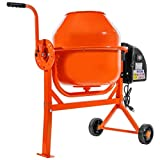 Stark 2-1/4 Cubic Feet Portable Electric Concrete Cement Mixer Barrow Machine Mixing Mortar, Stucco and Seeds