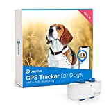 Tractive Waterproof GPS Dog Tracker - Location & Activity, Unlimited Range & Works with Any Collar (White - Newest Model)