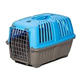 Pet Carrier: Hard-Sided Dog Carrier, Cat Carrier, Small Animal Carrier in Blue, Inside Dims 17.91 L x 11.5 W x 12 H & Suitable for Tiny Dog Breeds, Perfect Dog Kennel Travel Carrier for Quick Trips