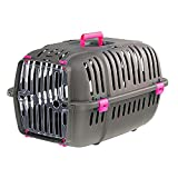 Ferplast Jet Pet Carrier: Value Dog Carrier Suitable for Toy Dog Breeds & Small Cats, Assembled Dimensions: 18.51L x 12.6W x 11.42H inches, Fuchsia