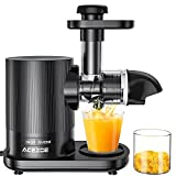 Juicer Machines, Acezoe Slow Masticating Juicer Extractor 95% Juice Yield & Pure Juice,Easy to Clean, Quiet Motor, Cold Press Juicer with Brush, 25 Recipes,Slow Juicer Machines for Vegetable and Fruit