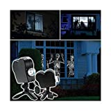 Halloween Projector, Window Projector, 12 Movie Led Projector Lights, Used for Halloween Outdoor Garden Decoration Family Outdoor Party