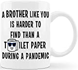 CLASSIC MUGS Brother Like You Hard To Find Funny Coffee Mug Graduation Gifts for Brother from Sister Sibling Mom Dad Friend Funny Gifts for Brother Christmas Birthday Fun Cup For Bro Men Guy Gag Gift