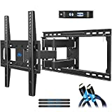 Mounting Dream TV Mount Full Motion TV Wall Mounts for 26-55 inch LED, LCD Flat Screen TV , Wall Mount Bracket with Dual Arms, up to VESA 400 x 400mm 99 lbs . Fits 16' , 18' , 24' Wood Studs MD2380-24