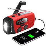 RunningSnail Emergency Hand Crank Radio With LED Flashlight For Emergency, AM/FM NOAA Portable Weather Radio With 2000mAh Power Bank Phone Charger, USB Charged & Solar Power For Camping, Emergency