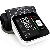 Blood Pressure Monitor - Automatic Upper Arm Machine & Accurate Adjustable Digital BP Cuff Kit - Largest Backlit Display - 240 Sets Memory, Includes USB Cord, Carrying Case