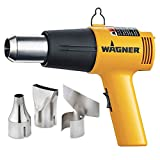 Wagner Spraytech 2417344 HT1000 Heat Gun Kit, 3 Nozzles Included, 2 Temp Settings 750ᵒF & 1000ᵒF, Great for Shrink Wrap, Soften Paint, Bend Plastic Pipes, Loosen Bolts and More
