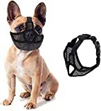 Fuzilin Short Snout Dog Muzzle,Adjustable Bulldog Mask Breathable Mesh Dogs Muzzles,Anti Biting Barking and Licking Chewing,Training Dog Mask for Bull Dogs,Pugs,Shar-Pei,Chihuahua Dogs