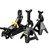 Torin AT82001B Hydraulic Trolley Service/Floor Jack Combo with 2 Jack Stands, 2 Ton (4,000 lb) Capacity, Black