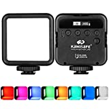 RGB Video Lights, LED Camera Light Mini Rechargeable Soft Light Panel 360° Full Color Portable Photography Lighting w 3 Cold Shoe,Dimmable Panel Lamp for DJI OSMO Sony DSLR Canon Nikon Camera Vlogging