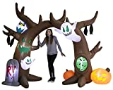 Joiedomi 8 FT Halloween Inflatable Scary Tree Archway with Build-in LEDs Blow Up Inflatables for Halloween Party Indoor, Outdoor, Yard, Garden, Lawn Decorations