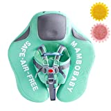 Non Inflatable Baby Pool Float Mambobaby Solid Swimming Float, No Flip Over Baby Floats for Infants Aged 3-24 Months (Green)