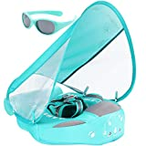 Cloth Newest Add Tail Never Flip Over Mambobaby Non Inflatable Baby Swim Float with Canopy UPF 50+ Vest Air Free Water Smart Swim Trainer Solid Infant Pool Float Waist Swim Ring
