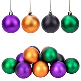 Deloky 12 PCS Halloween Ball Ornaments-Halloween Colorful Shatterproof Ball for Halloween Wreath Ornaments and Party Decoration