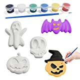 Halloween DIY Crafts Painting Kit with Pumpkins, Bats, Ghosts etc.Halloween Arts and Crafts Gift Toys for Kids Boys Girls Halloween Party Favors… (Halloween)