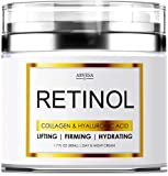Retinol Cream for Face - Facial Moisturizer with Collagen and Hyaluronic Acid - Hydrating Wrinkle Cream for Women and Men - Anti-Aging Day and Night Moisturizer - For All Skin Types - Made in USA