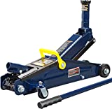TCE AT83006U Torin Hydraulic Trolley Service/Floor Jack with Extra Saddle (Fits: SUVs and Extended Height Trucks): 3 Ton (6,000 lb) Capacity, Blue