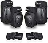 Adult Knee Pads Elbow Pads 6 in 1 Protective Gear Set for Skateboarding Skating Biking Roller Skating Cycling (Large)