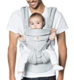 Ergobaby Omni 360 All-Position Baby Carrier for Newborn to Toddler with Lumbar Support & Cool Air Mesh (7-45 Lb), Pearl Grey