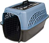 Petmate Two Door Pet Kennel for Pets up to 15 Pounds, Blue/Black, 24' Long