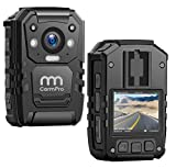 CammPro I826 1296P HD Police Body Camera,128G Memory,Waterproof Body Worn Camera,Premium Portable Body Camera with Audio Recording Wearable,Night Vision,GPS for Law Enforcement