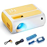 Mini Projector, Uyole Portable Video Projector for Cartoon, Kids Gift, Small LED Pico Projector, Outdoor Movie Projector Compatible with TV Stick, HDMI, AV, USB, Laptops for Home Theater Movie