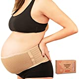 Maternity Belly Band for Pregnancy - Soft & Breathable Pregnancy Belly Support Belt - Pelvic Support Bands - Tummy Band Sling for Pants - Pregnancy Back Brace (Classic Ivory, One Size)