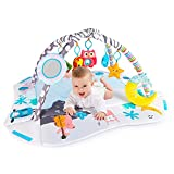 Baby Play Mat, Activity Gym & Play Mat Center for Newborn, 7 Toys for Sensory and Motor Skill Development Language Discovery, Tummy Time Mat Non Slip 4-in-1 Baby Toddlers Play Mat