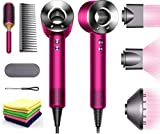 Premium Dyson Supersonic Hair Dryer Limited Gift Set Edition: Fast Drying, Controlled Styling, Powerful, Low Noise, Light Weight, Engineered for Different Hair Types w/One Maxitek Microfiber Cloth