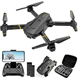 4DRC V4 Drone with 1080P HD Camera for adults, FPV Live Video Foldable RC Quadcopter Helicopter Beginners Kids Toys, 2 Batteries, Waypoints Functions, Headless Mode,One Key Start, Altitude Hold