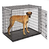 Midwest SL54DD Ginormus Double Door Dog Crate for XXL for the Largest Dogs Breeds, Great Dane, Mastiff, St. Bernard