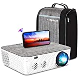"""5G WiFi Projector 4K Supported - FANGOR 8500L Native 1080P Projector Bluetooth Outdoor Movie Projector / Full Sealed Design/Digital Keystone/300"""" Display/50% Zoom, for Phone/PC/DVD/TV/PS4"""