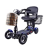 Rubicon All Terrain 4 Wheel Mobility Scooter - Zero Turn Maneuverability, Extreme, Sport, Heavy Duty, 300lbs Max Weight, Long Range Power Extended Battery ( (Model3)