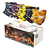 50Pcs Adult Halloween Disposable Face Masks for Party Decorations, Breathable Protection,High Filtration and Ventilation