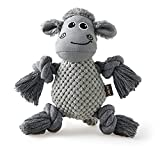 Lesure Squeaky Dog Toys for Aggressive Chewers - Plush Dog Toy Stuffed Chew Toys with Squeakers for Puppies, Small Medium Large Dogs, Grey, 1 Pack