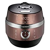 Cuckoo CRP-JHSR0609F Multifunctional and Programmable Electric Induction Heating Pressure Rice Cooker, 6 Cups, Brown