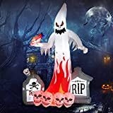 Halloween Inflatables Ghost with Color Changing LEDs 9FT Decorations Inflatable Outdoor Holiday Yard Decorations for Party Indoor Outdoor Garden Lawn Yard Decorations