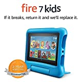 Fire 7 Kids Tablet, 7' Display, ages 3-7, 16 GB, Blue Kid-Proof Case