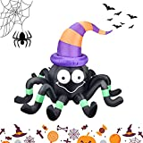 Halloween Inflatables Decorations Outdoor Decor Build-in LED Light for Yard Lawn (Halloween Inflatable Spider)